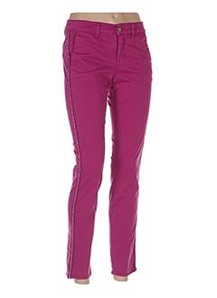 Pantalon 7/8 violet HAPPY pour femme