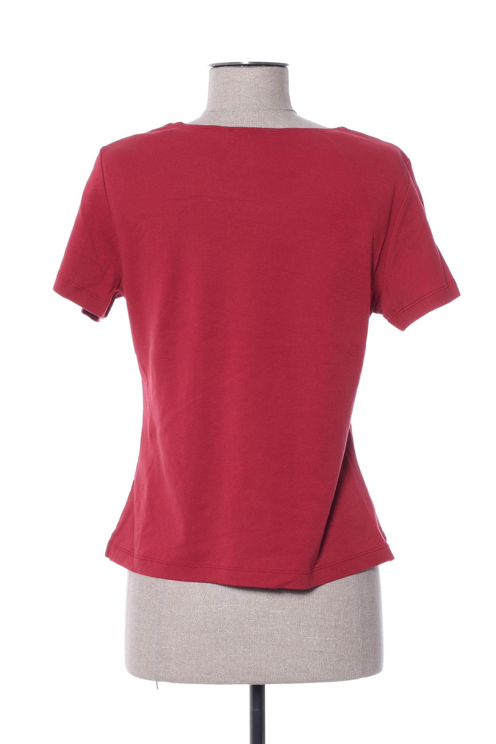 Jac Jac Manches Courtes 1 Femme De Couleur Rouge En Soldes Pas Cher 1406089-rouge0