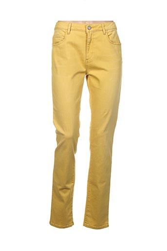 Pantalon casual jaune MANILA GRACE pour femme
