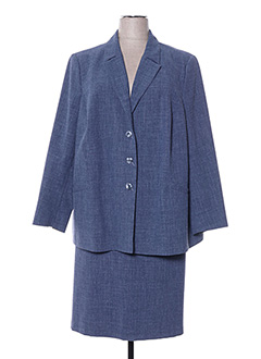 Veste/jupe bleu LISA CHESNAY pour femme