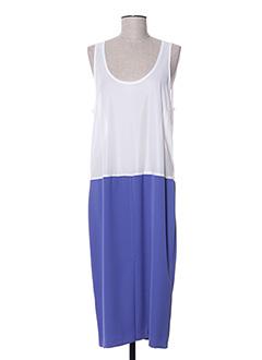 Robe mi-longue bleu CHARLES LORENS pour femme