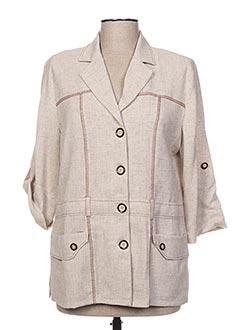 Veste casual beige FRANCE RIVOIRE pour femme