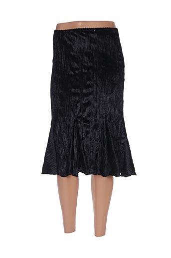 Jupe mi-longue noir HONEY MOON pour femme