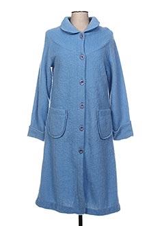 Robe de chambre bleu VAL D'ARIZES pour femme