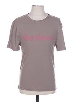 T-shirt manches courtes beige ARTHUR pour homme