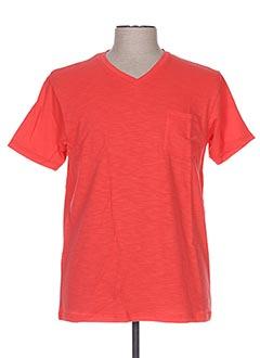 T-shirt manches courtes rouge ARTHUR pour homme