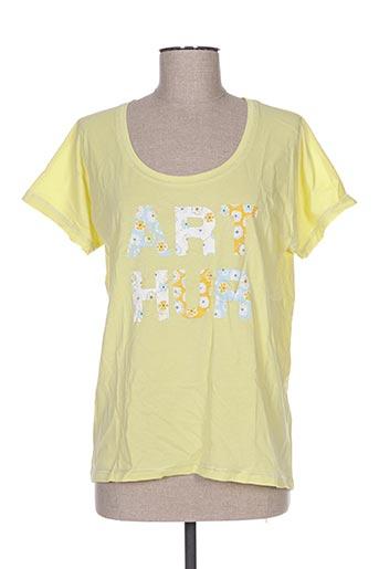 T-shirt manches courtes jaune ARTHUR pour femme