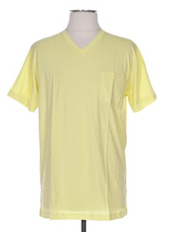 T-shirt manches courtes jaune ARTHUR pour homme
