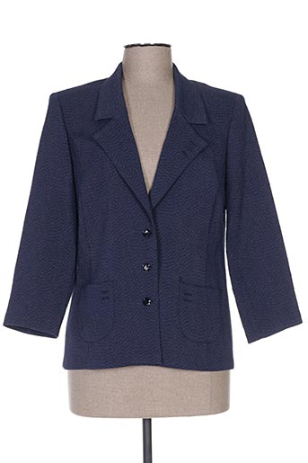 Veste chic / Blazer bleu FRANCOISE DE FRANCE pour femme