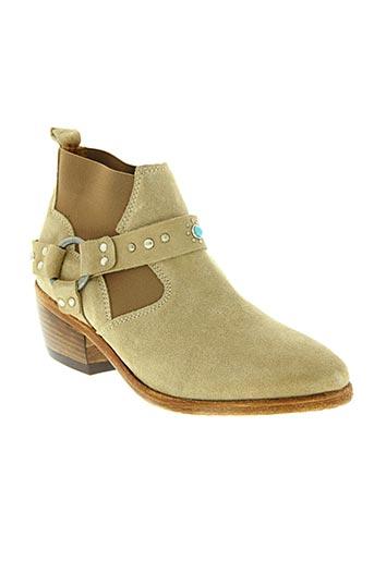Bottines/Boots beige CATARINA MARTINS pour femme
