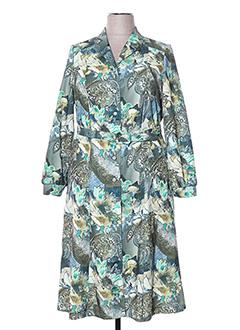 Robe mi-longue vert FRANCOIE F pour femme