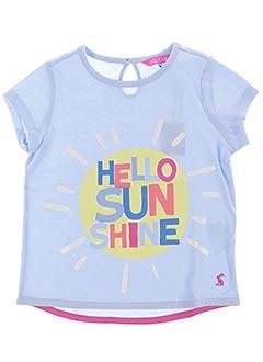T-shirt manches courtes bleu JOULES pour fille
