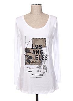 T-shirt manches longues blanc EDAS pour femme