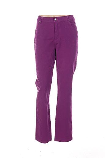Pantalon casual violet MARBLE pour femme