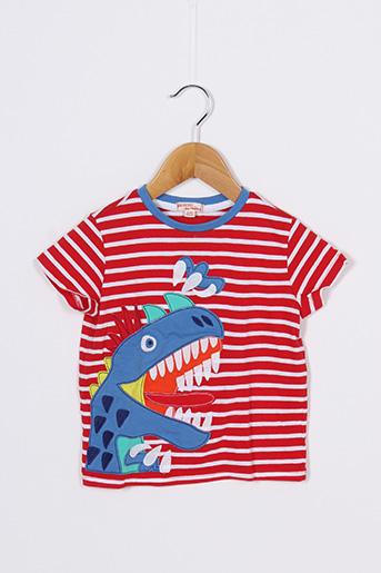 T-shirt manches courtes rouge DU PAREIL AU MÊME pour garçon