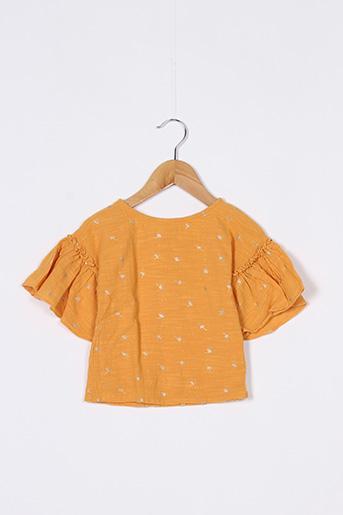 Blouse manches courtes orange CARREMENT BEAU pour fille