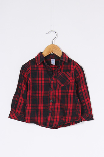 Chemise manches longues rouge BABY CLUB pour garçon