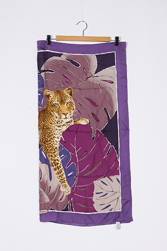 Foulard violet SALVATORE FERRAGAMO pour femme