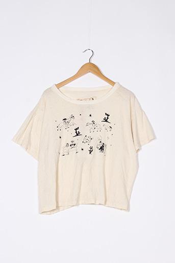 T-shirt manches courtes beige WORSTOK pour femme