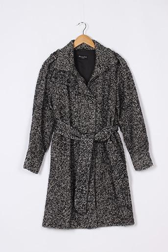 Manteau court noir MASSIMO DUTTI pour femme