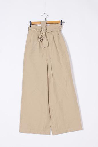 Pantalon casual beige EKYOG pour femme