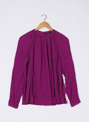 Blouse manches longues violet MONOPRIX pour femme