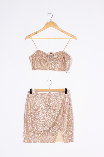 Top/jupe rose BOOHOO pour femme