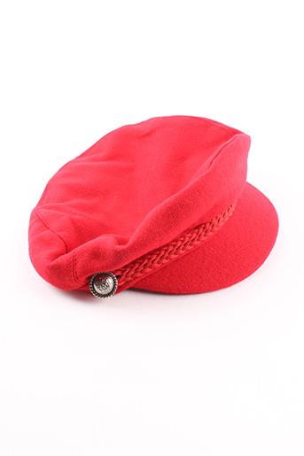 Casquette rouge MOA pour femme