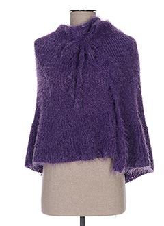 Poncho violet GANTEB'S pour femme