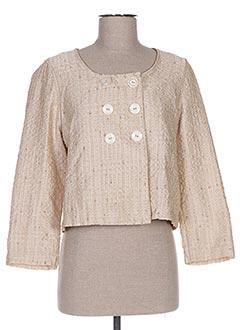 Veste chic / Blazer beige GANTEB'S pour femme