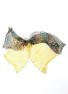 Foulard jaune GANTEB'S pour femme
