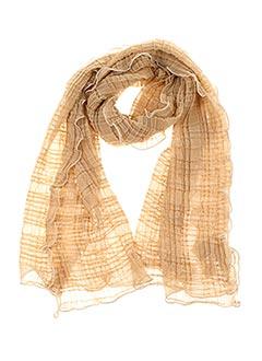 Foulard beige GANTEB'S pour femme
