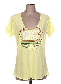 T-shirt manches courtes jaune CAMPS UNITED pour femme