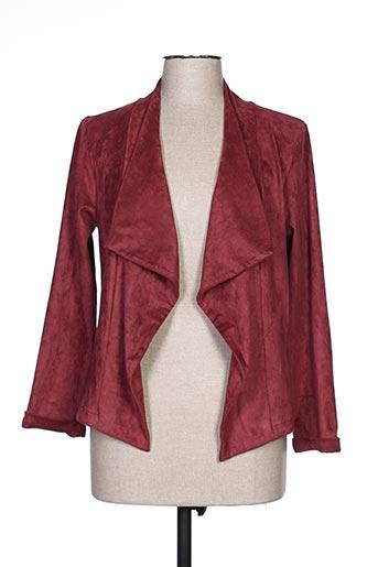 Veste casual rouge POUSSIERE D'ETOLE pour femme