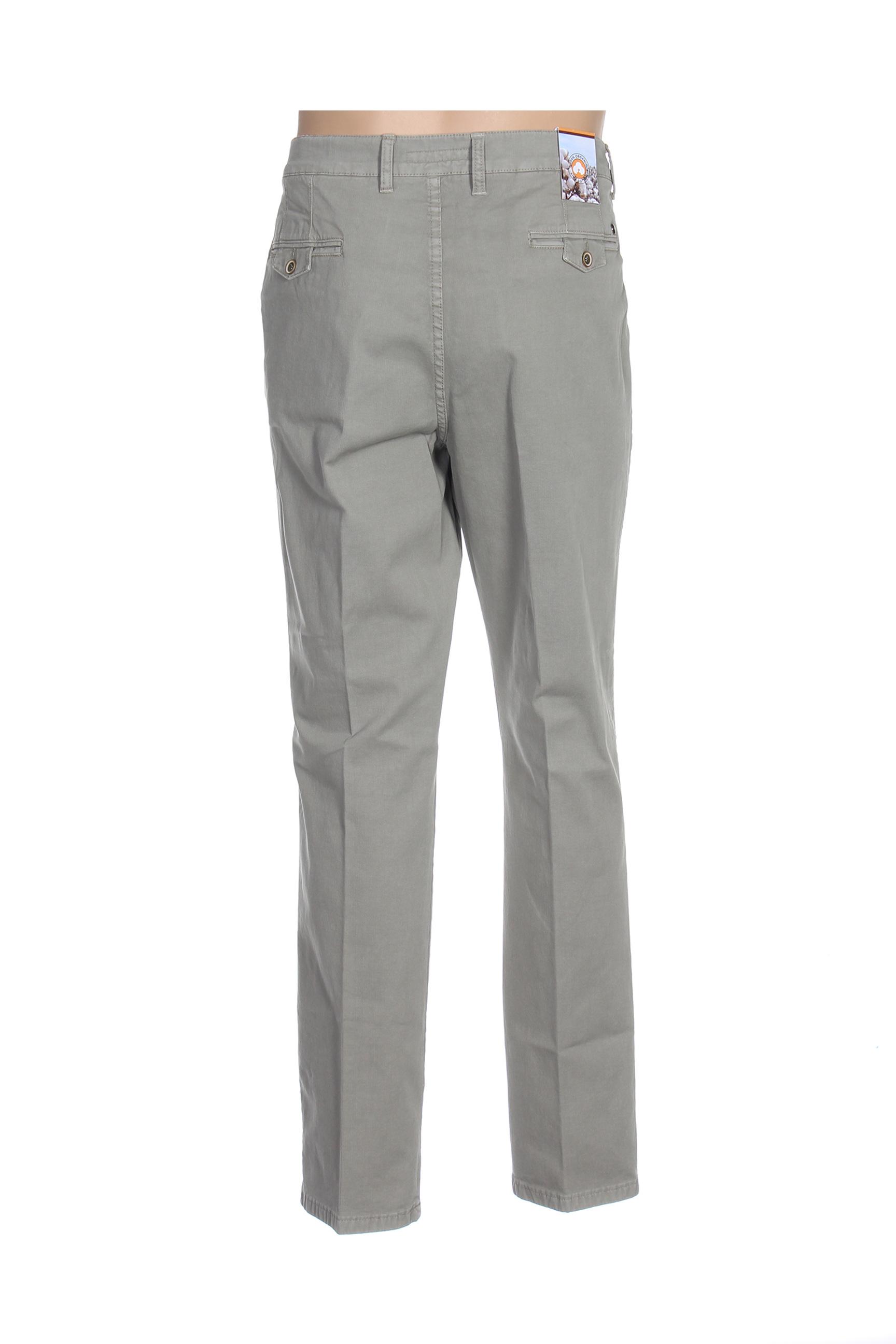 Lcdn Pantalons Decontractes Homme De Couleur Vert En Soldes Pas Cher 1420048-vert00