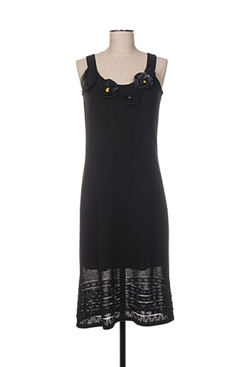 Robe mi-longue noir CHASSAGNARD pour femme