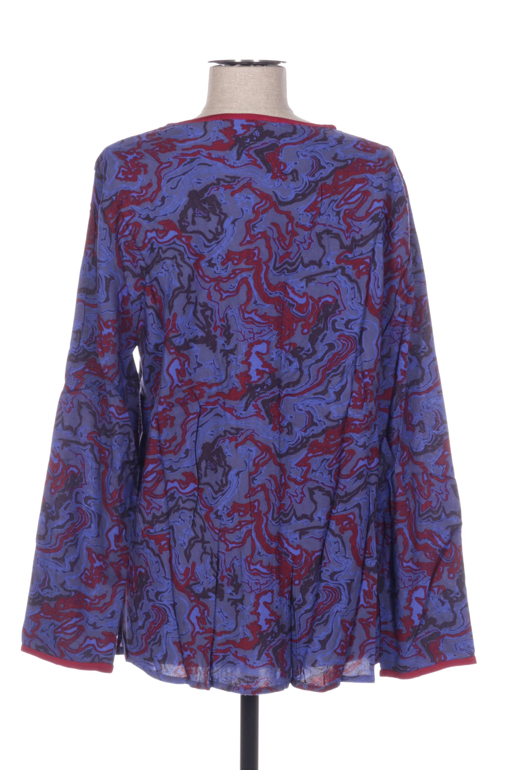 La Fiancee Du Mekong Blouses Femme De Couleur Bleu En Soldes Pas Cher 1417603-bleu00