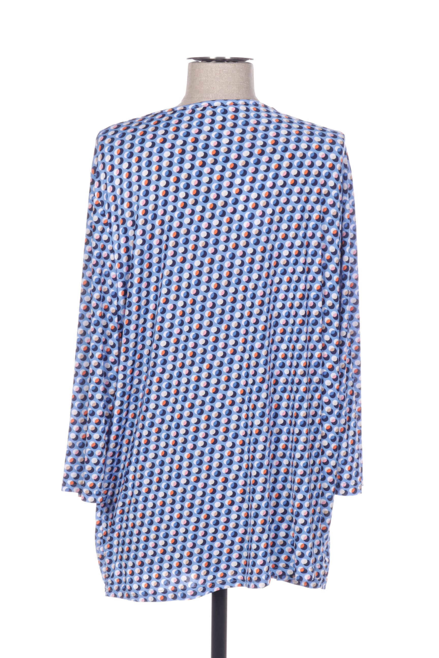 Diane Laury Blouses Femme De Couleur Bleu En Soldes Pas Cher 1417627-bleu00