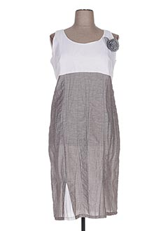 Robe mi-longue gris OLIVER JUNG pour femme