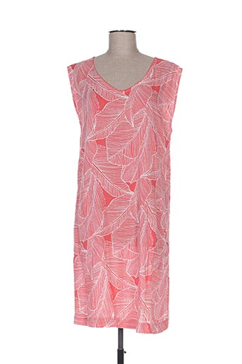 Robe mi-longue rose ESPRIT DE LA MER pour femme
