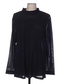T-shirt manches longues noir OLIVER JUNG pour femme