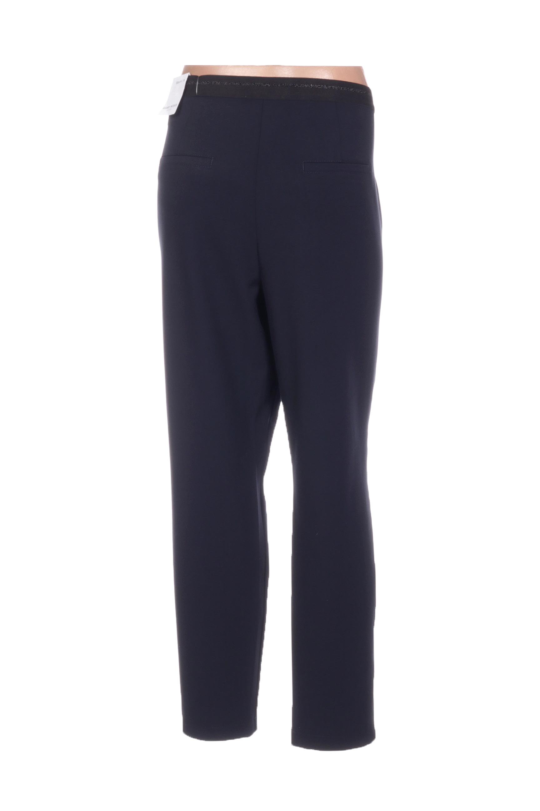 Gerry Weber Pantalon7 8 Femme De Couleur Bleu En Soldes Pas Cher 1423471-bleu00