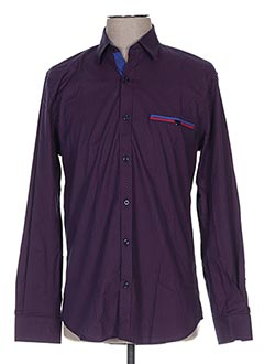 Chemise manches longues bleu CAP 10 TEN pour homme