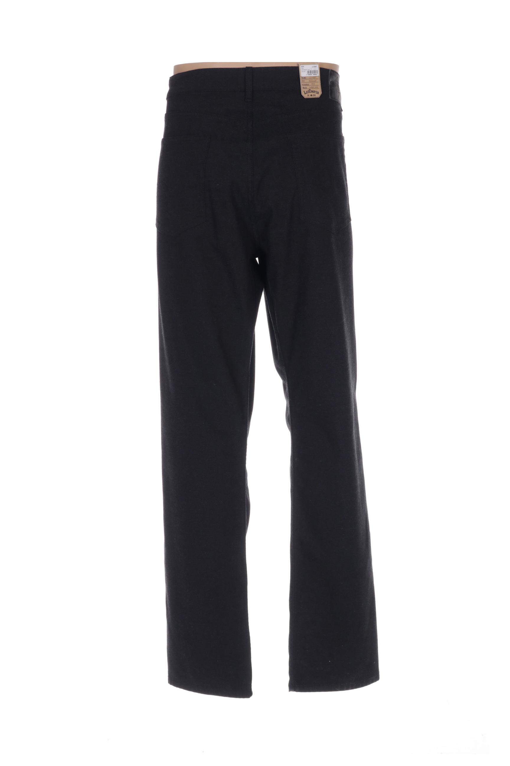 Lee Cooper Pantalons Decontractes Homme De Couleur Noir En Soldes Pas Cher 1422031-noir00