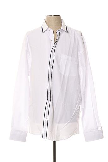 Chemise manches longues blanc CAP 10 TEN pour homme