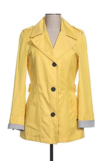 Veste casual jaune BEAUMONT pour femme
