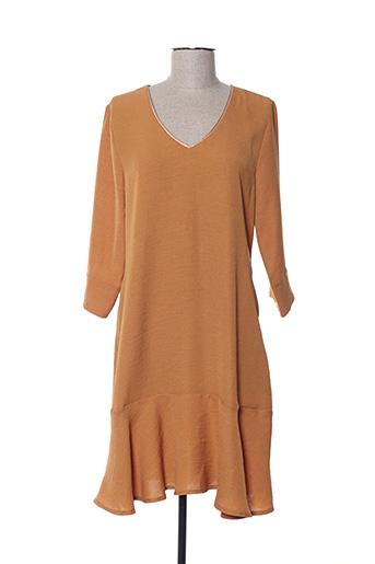Robe courte marron BY MEG pour femme