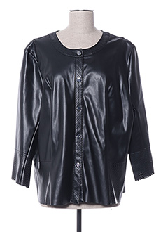 Veste simili cuir noir ELENA MIRO pour femme