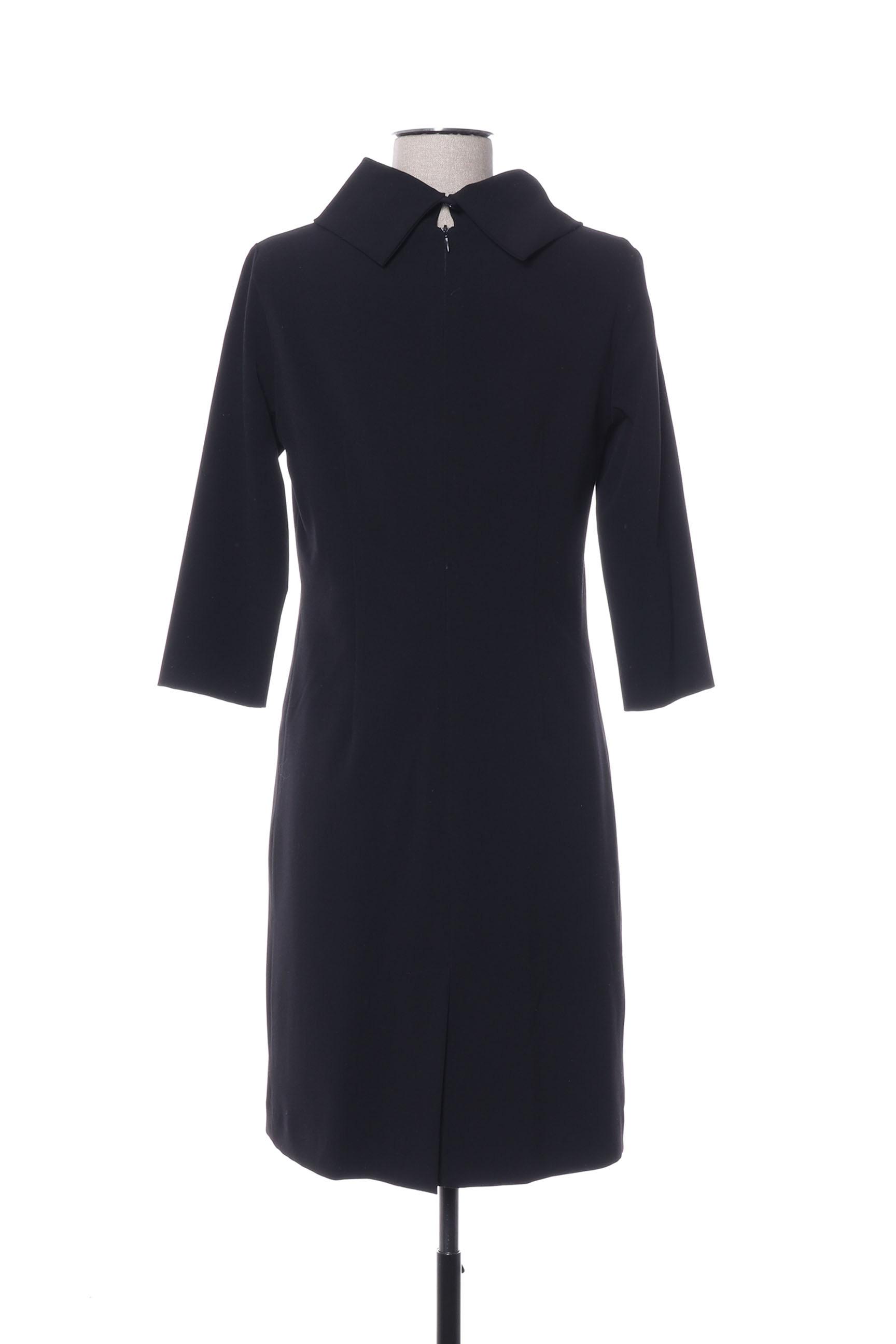 Garou Paris Robes Mi Longues Femme De Couleur Noir En Soldes Pas Cher 1418044-noir00