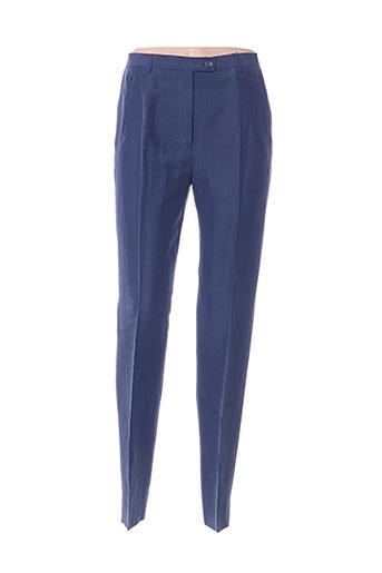 Pantalon chic bleu BERNARD ZINS pour femme